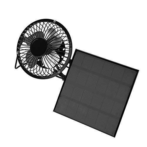 Solar Panel Powered Fan,3W 6V Outdoor Portable Mini Fan USB Cooling Fan for Travel Camping Fishing