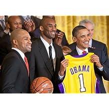 Kobe Bryant Derek Fisher Barack Obama Los Angeles Lakers Poster Photo 12x18