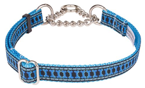Illusion Bone Woven Ribbon Half Check Dog Collar Limited Edition-Medium