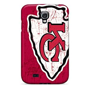 Durable Hard Cell-phone Cases For Samsung Galaxy S4 With Customized Trendy Kansas City Chiefs Pictures ErleneRobinson
