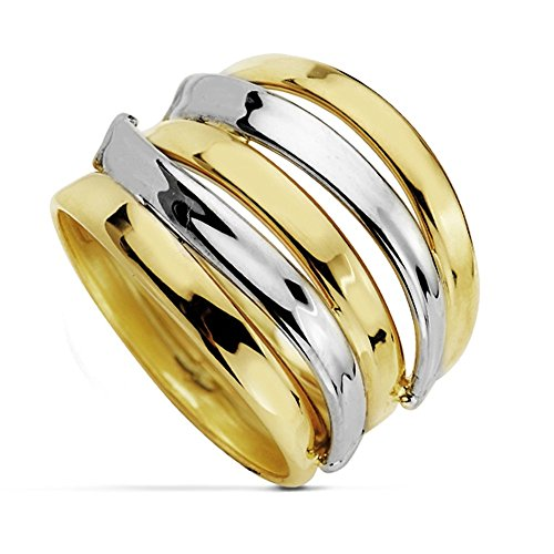 Bague Multiband 18k bicolor d'or [AA7254]