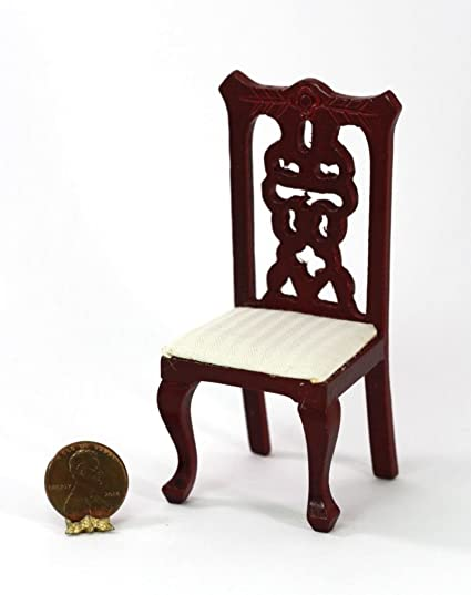 About A Chair 12 Side Chair.Amazon Com Dollhouse Miniature 1 12 Mahogany Dining Room Side Chair