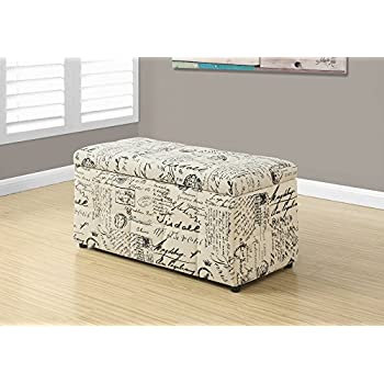 Prime Monarch Vintage French Fabric Ottoman With Storage 38 Length Beige Short Links Chair Design For Home Short Linksinfo