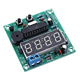 Icstation DIY 4 Digit Multifunction Electronic Digital Alarm Clock Stopwatch Counter AT89C2051