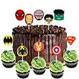PANTIDE10Pcs SuperheroBirthdayCandlesCakeTopper|BirthdayCakeDecorations|CartoonPartyDecorationsSuppliesforKidsBirthdayBabyShower