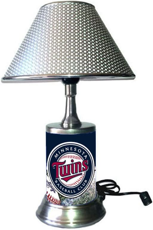 JS Sports Table Lamp with Shade Your Favorite Team Plate Rolled in on The lamp Base MT