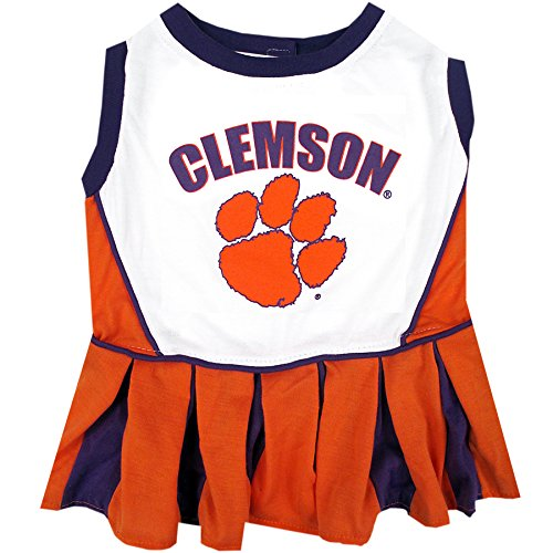 Pets First Collegiate Clemson Tigers Dog Cheerleader Dress, (Creative Team Names And Costumes)