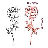 ZbFwmx Romantic Rose Cutting Dies Stencils DIY