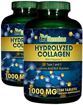 Hydrolyzed Collagen 1000 Mg.by TNVitamins 360 Tablets (2 x 180)