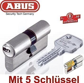 mit 10 Schl/üssel ABUS T/ürzylinder C73N L/änge 35//35mm vs
