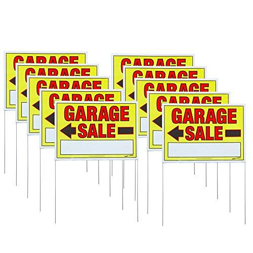 "Sunburst Systems 32""H x 22""W Double-sided Garage Sale Sig..."