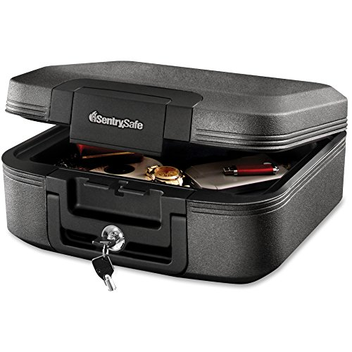 SentrySafe Fire Safe, Waterproof Fire Resistant Chest, 0.28 Cubic Feet, Medium, CHW20221