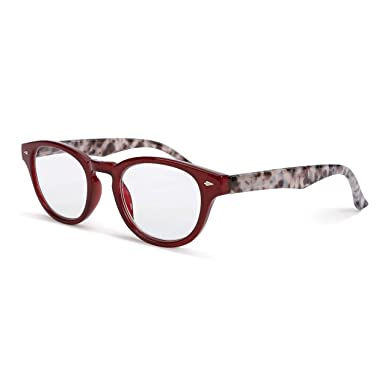 aef4e8b58f Image Unavailable. Image not available for. Color  Leopard Red +2.00  Acrylic Polycarbonate Prescription ...