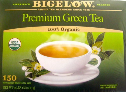 Bigelow premium green tea organic 150 bags 10.58 OZ