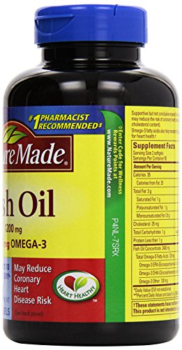 031604013288 - Nature Made Fish Oil Omega-3, 1200mg, 100 Softgels carousel main 3