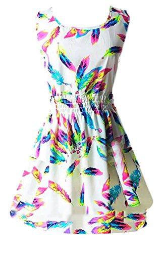 Coolred-femmes En Mousseline De Soie Imprimé Floral Taille Plus Manches Mini Robe Pattern14