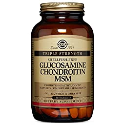 Solgar Triple Strength Glucosamine Chondroitin MSM Tablets,120 Tablets