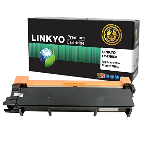 LINKYO Compatible Toner Cartridge Replacement for Brother TN660 TN-660 TN630 (Black, High Yield) by LINKYO