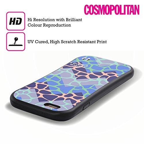 Official Cosmopolitan Chevron Giraffe Totally 80S Hybrid Case for Apple iPhone 5 / 5s / SE