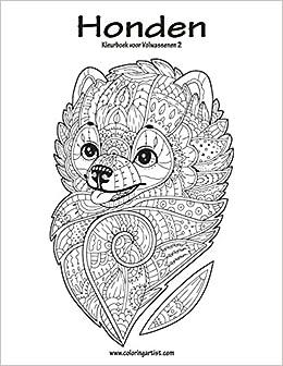 Kleurplaten Honden Voor Volwassenen.Amazon Com Honden Kleurboek Voor Volwassenen 2 Volume 2 Dutch