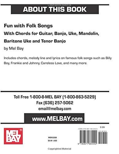 Fun With Folk Songs With Chords For Guitar Banjo Uke Mandolin