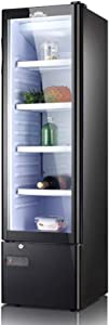 JLFTF Beverage Refrigerator Wine Cooler Household Ice Bar Small Compact Under Counter Refrigerator Fridge Freezer Cooler Unit for Dorm,Office, Apartment with Adjustable Removable Glass Shelves