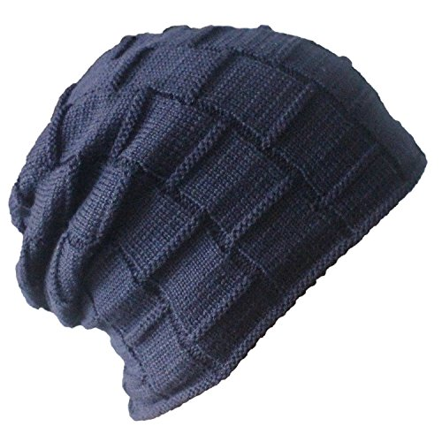 513789e70ce Bodvera Winter Knit Wool Warm Hat Thick Soft Stretch Slouchy Beanie ...
