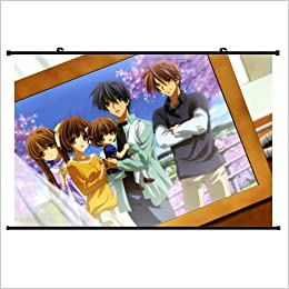 Clannad Anime Wall Scroll Poster Okazaki Ushio Okazaki Tomoya