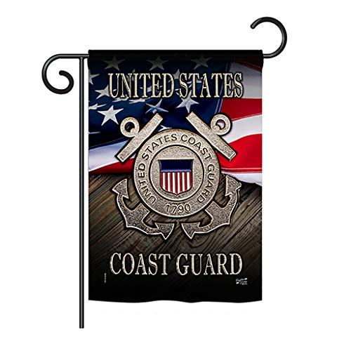Angeleno Heritage G135135-BO US Coast Guard Americana Military Impressions Decorative Vertical 13