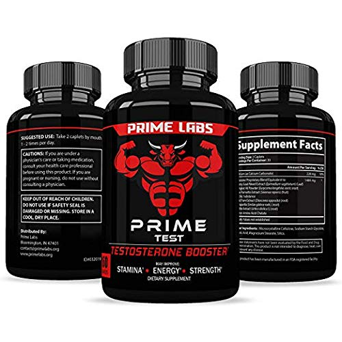 Prime Labs - Men's Test Booster - Natural Stamina, Endurance and Strength Booster - 60 Caplets