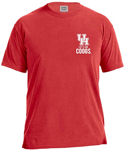 NCAA Houston Cougars State Phrase Short Sleeve Comfort Tee, X-Large,Red