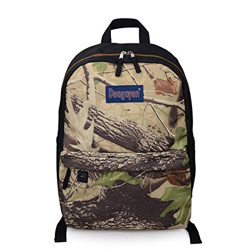 Douguyan Fashion Lightweight Camo School Backpack Cool Book Bag Student Backpack Green Camo 151 -