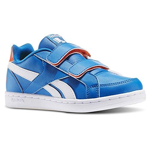 Reebok Ar0801, Zapatillas de Deporte Unisex Niños Varios colores (Instinct Blue /         Wht /         Flux Orange)