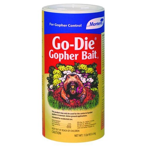 [MONTEREY LAWN & GARDEN PROD LG9208 Go Die Gopher Bait, 1 lb] (Gopher Bait)