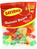 Farley's & Sathers Candy, Gummy Bears, 3.25 Ounce (Pack of 12)