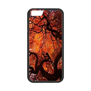 Qxhu Maple Leaf Hard Plastic Back Protective case for Iphone6 4.7""