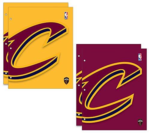 Cleveland Cavaliers NBA 2-Pocket School Folders, 4 Pack, 9.5