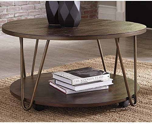Benjara Wooden Coffee Table with Open Bottom Shelf and Braces Support, Brown