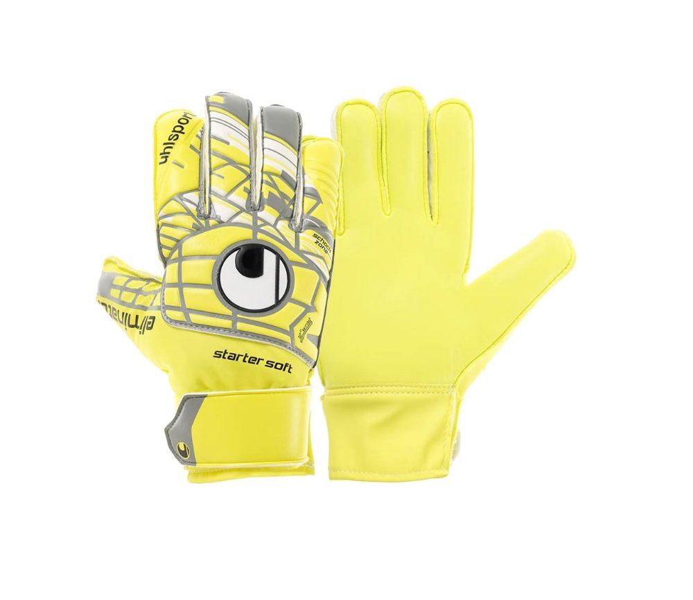db553346c5b Amazon.com : Uhlsport Unlimited Starter Soft Goalkeeper Gloves (ylw/gry) 9  : Sports & Outdoors