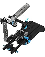 Fotga DP500III Camera Cage 15mm Rail Rod Rig with Handle for DSLR Cameras Camcorders Video Follow Focus