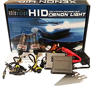 Ablevision 55w Hid Xenon Conversion Kit Slim Ballast Single Beam and Bi-xenon Options H1 H3 H4 H7 H8 H9 H10 H11 H13 Hb3 9004 9005 9006 9007 (9006, 6000K (Pure White))