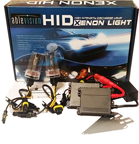 Ablevision 55w Hid Xenon Conversion Kit Slim Ballast Single Beam and Bi-xenon Options H1 H3 H4 H7 H8 H9 H10 H11 H13 Hb3 9004 9005 9006 9007 (9006, 6000K (Pure White)) (H4 Xenon)