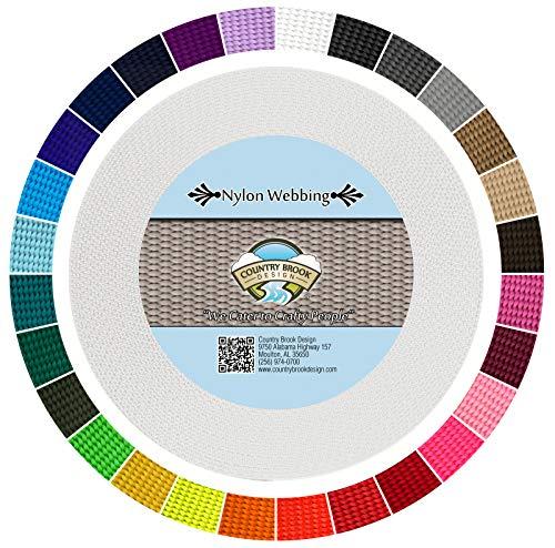 Country Brook Design - White 3/4 Inch Heavy Nylon Webbing (10 Yards)