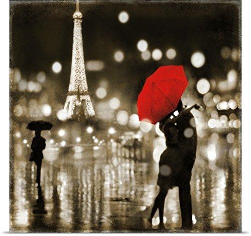 Poster Print entitled A Paris Kiss by Kate Carrigan (Paris Kiss)