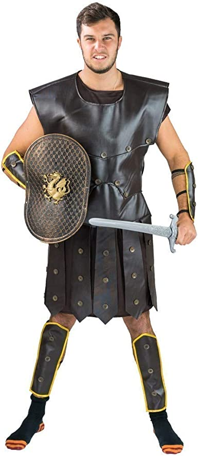 Spooktacular Creations Brave Men/'s Roman Gladiator Costume Set for Halloween Audacious Dress Up Party