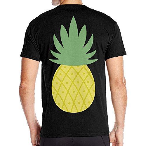 Men's Pineapple Fashion T-Shirts Black Size (Mockingjay Party Ideas)
