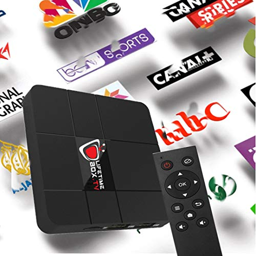 International IPTV Internet WiFi Receiver Box with Life-time Subscription  for 5000+ Global Live Channels Include North American European Asian Arabic