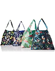 LOQI Nature2 Collection Pouch Reusable Grocery Bag, Multicolor