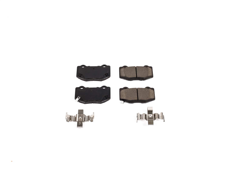 Power Stop 17-1718 Z17 Evolution Plus Rear Brake Pad Set with Hardware Kit