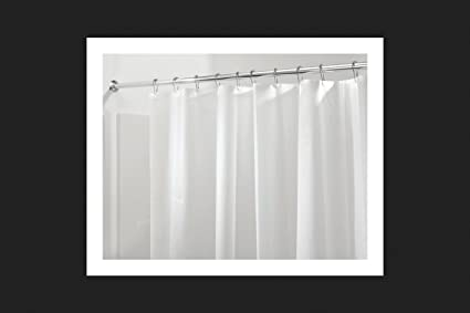 InterDesign 12051 Peva Frost Shower Curtain Liner